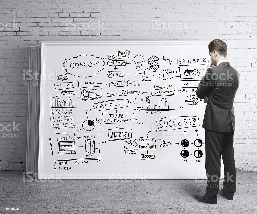 business strategy desk stock photo