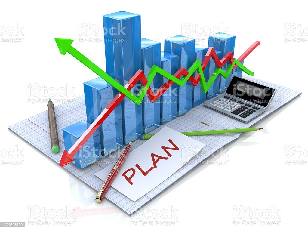 Business strategy planning as a concept stock photo