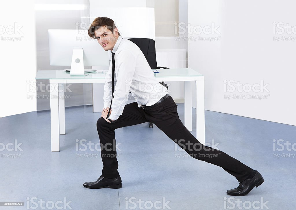 Business Stretching stock photo