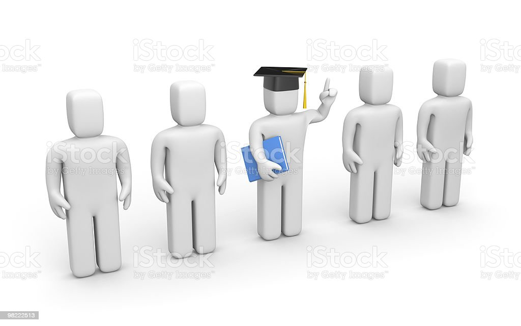 Business students and lecturer or academic royalty-free stock photo