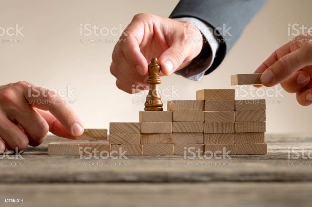 Business success and promotion concept stock photo
