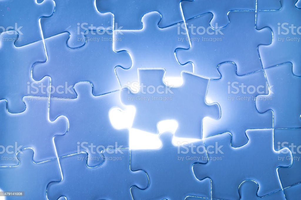 Business success, jigsaw puzzle concept stock photo