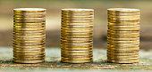 Business success - money coins banner
