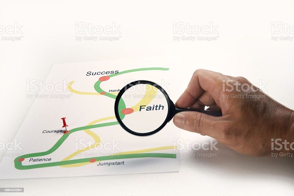 Business success road map stock photo