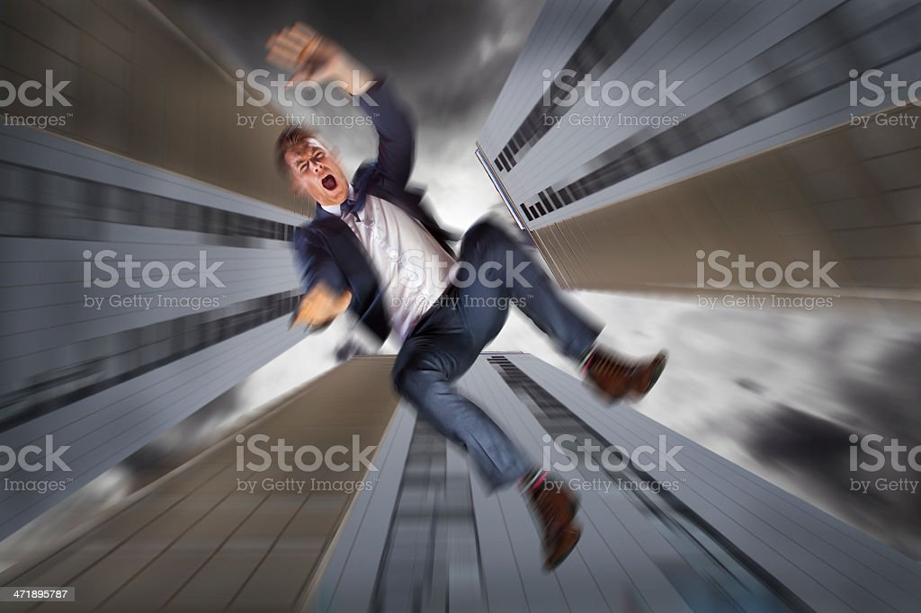 Business suicide royalty-free stock photo