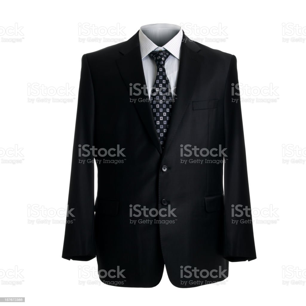 Business suit isolated on white royalty-free stock photo