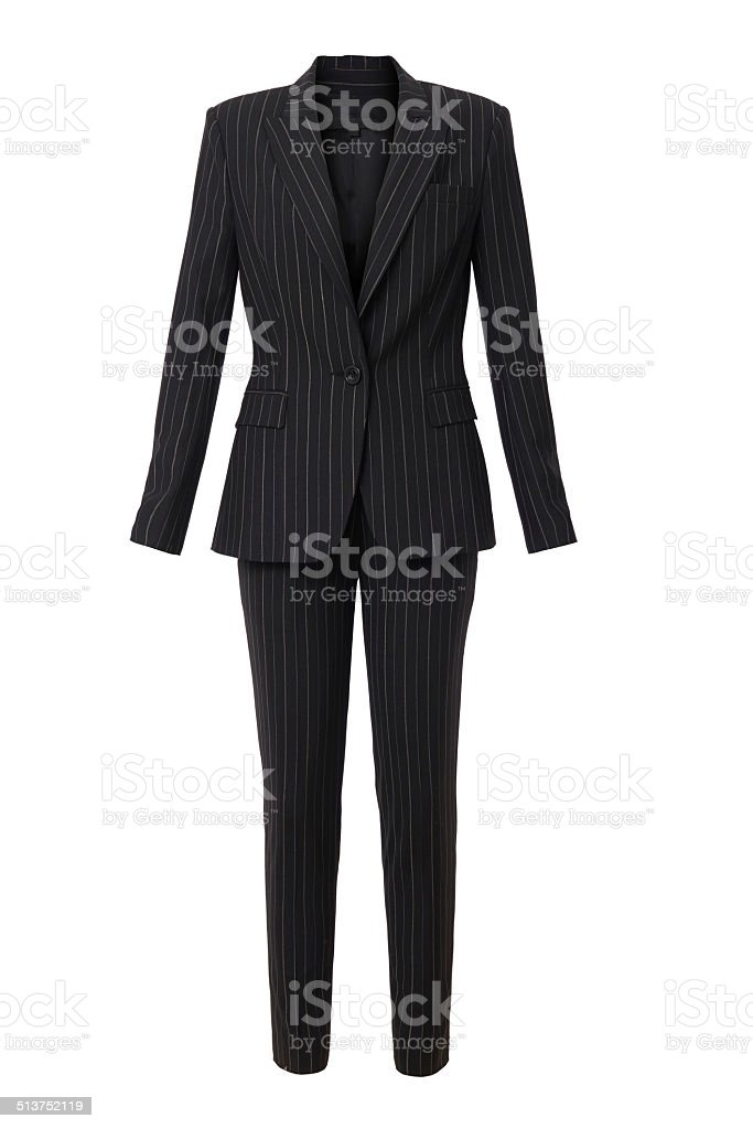 business suit isolated stock photo