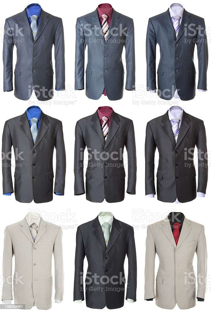 Business suits set   Isolated royalty-free stock photo