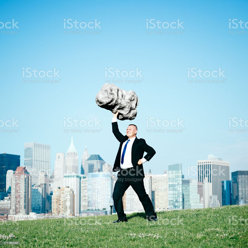 Business Superhero royalty-free stock photo