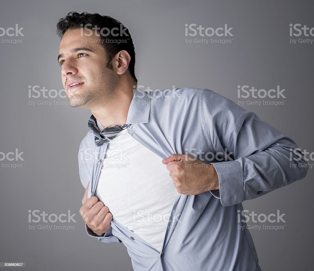 Business superhero stock photo