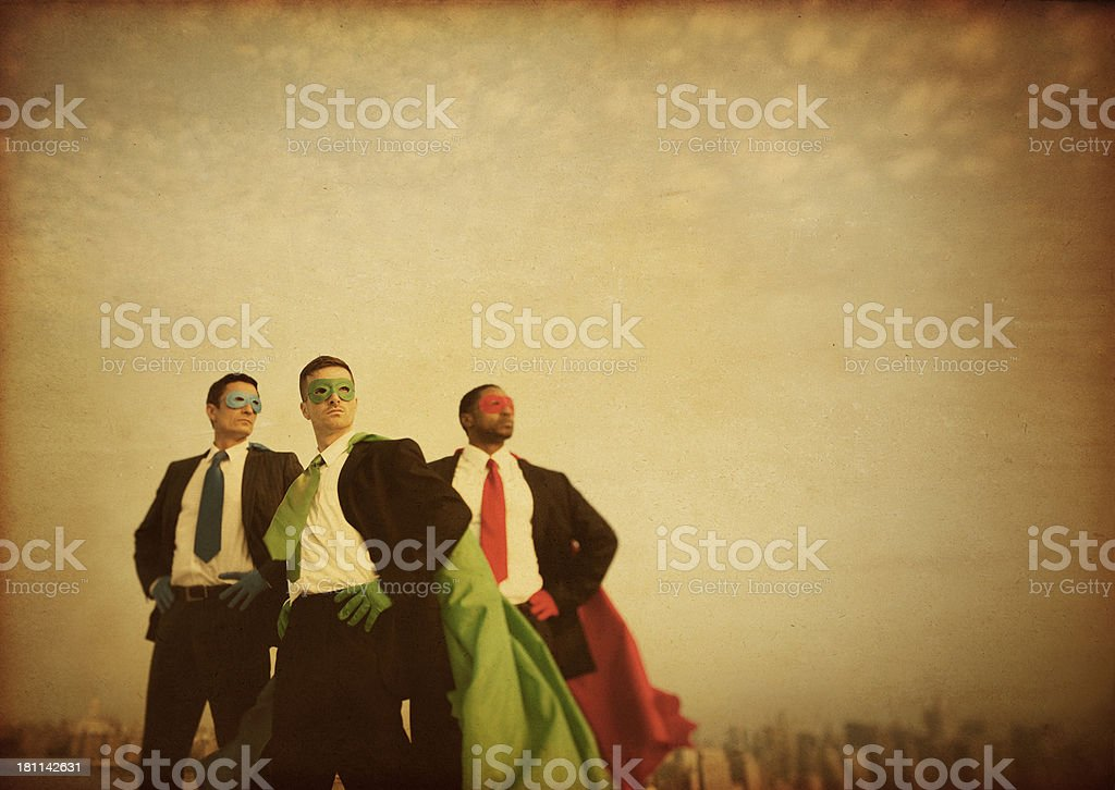 Business Superheroes royalty-free stock photo