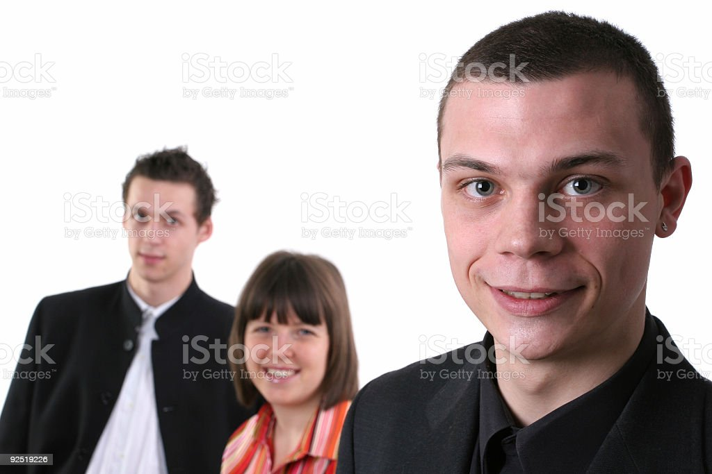 Business support team royalty-free stock photo