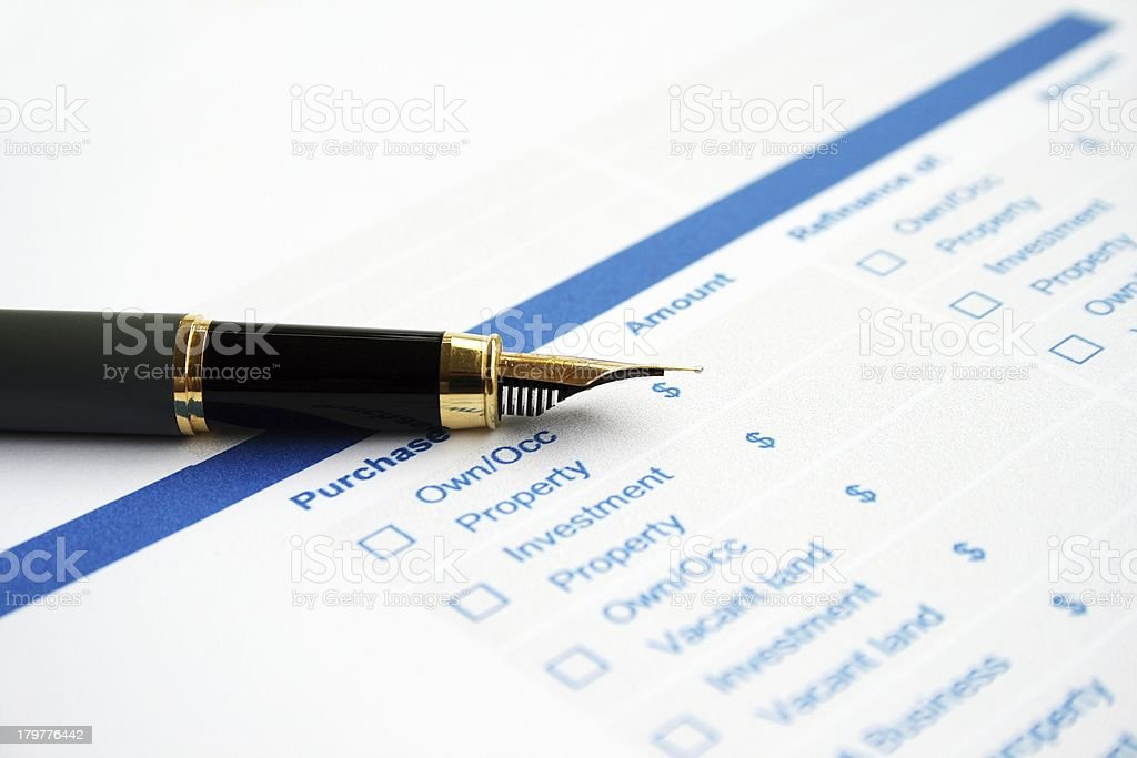 Business survey form royalty-free stock photo