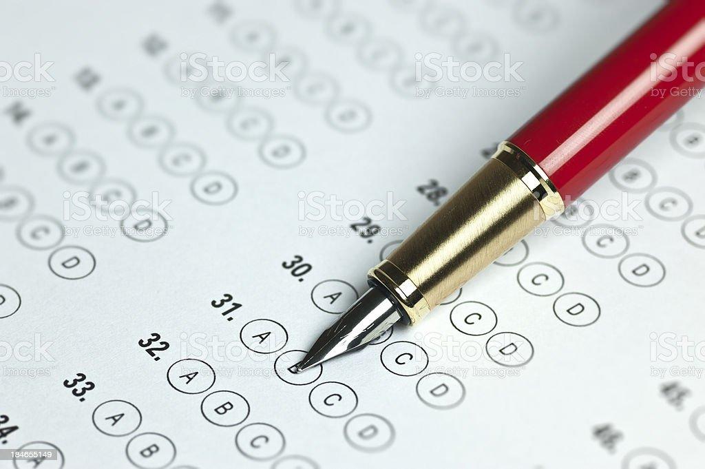 Business Survey-Answer Box royalty-free stock photo