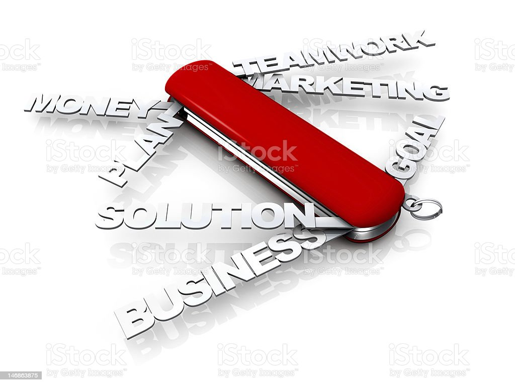 Business Swiss Knife stock photo