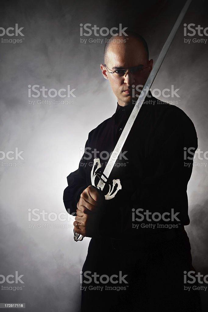Business Swordsman stock photo