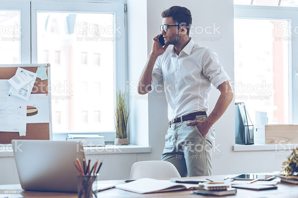 Business talk. stock photo