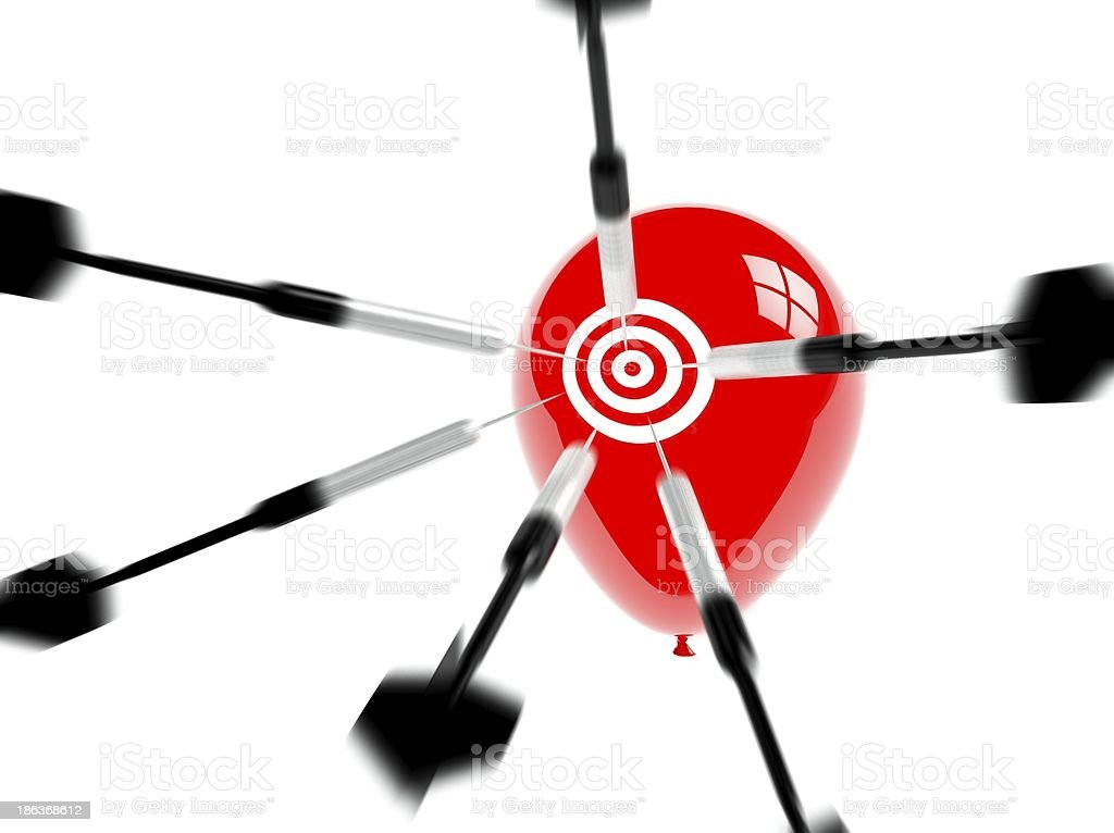 Business Target, Aspiration and Success, Arrows Balloons royalty-free stock photo