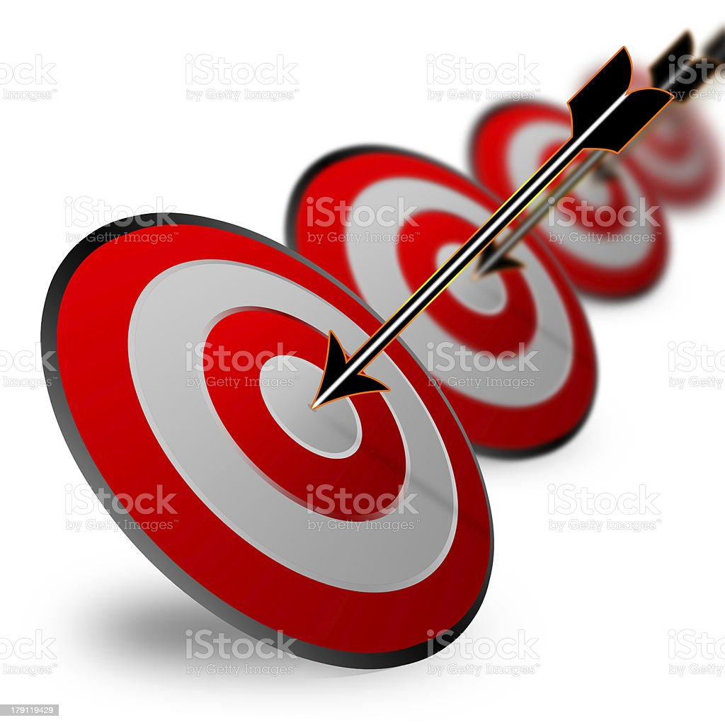 Business target design royalty-free stock photo