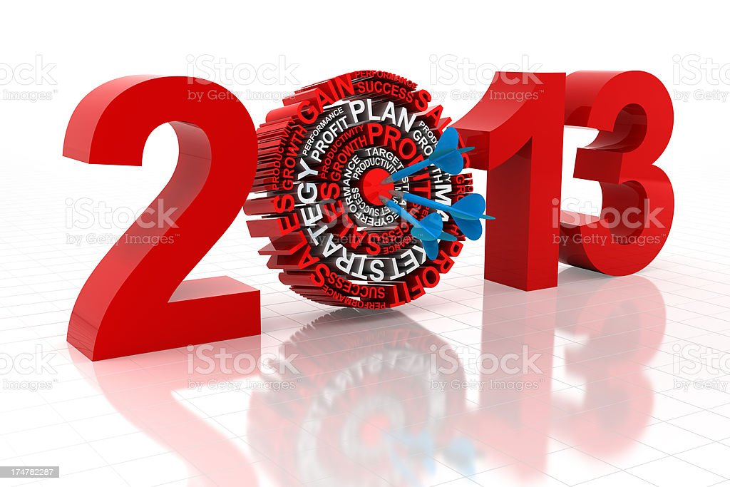 2013 business target royalty-free stock photo