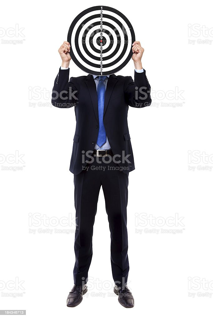 Business Target royalty-free stock photo
