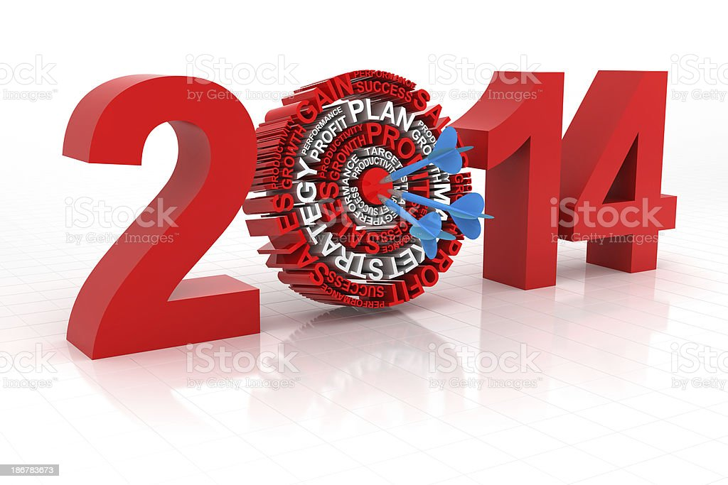 2014 business target royalty-free stock photo