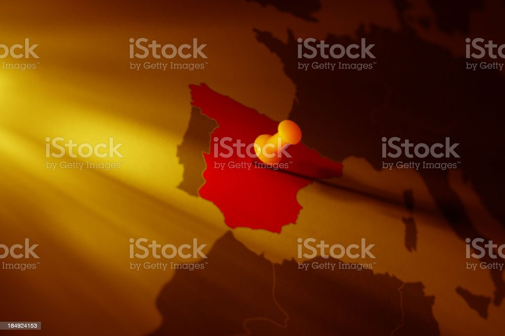 Business targets: Spain royalty-free stock photo