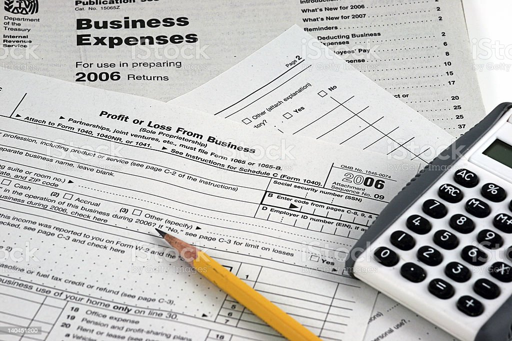 Business Tax form 2006 stock photo