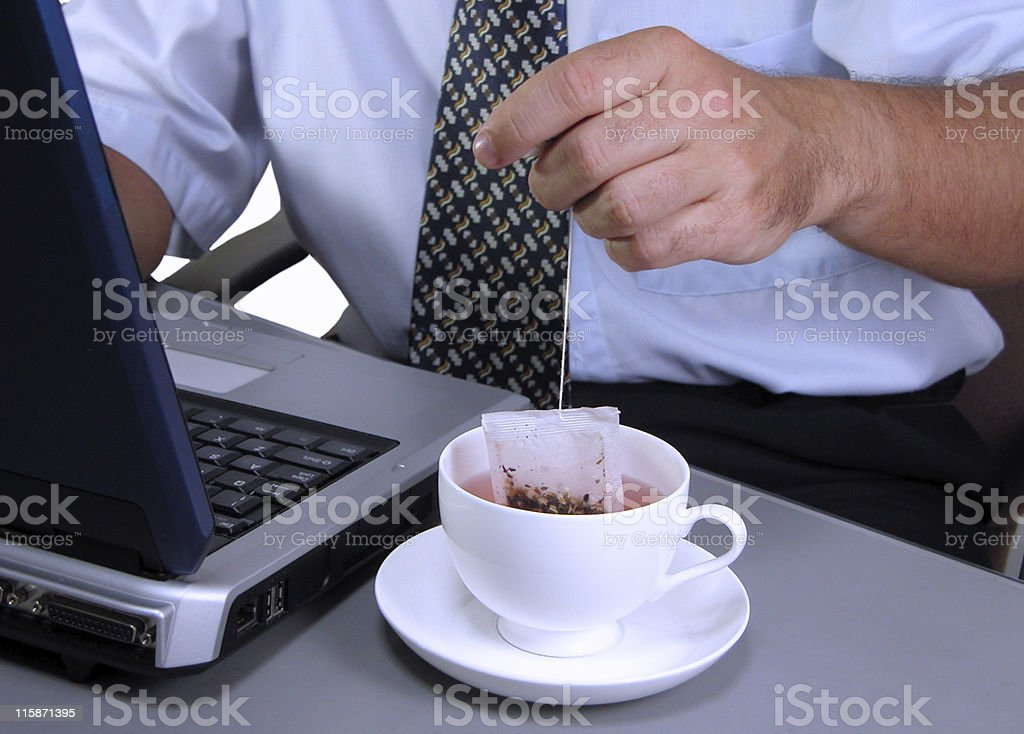 Business tea time royalty-free stock photo