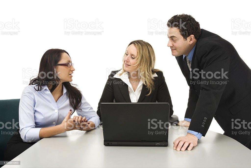 Business Team Analyzing Data royalty-free stock photo