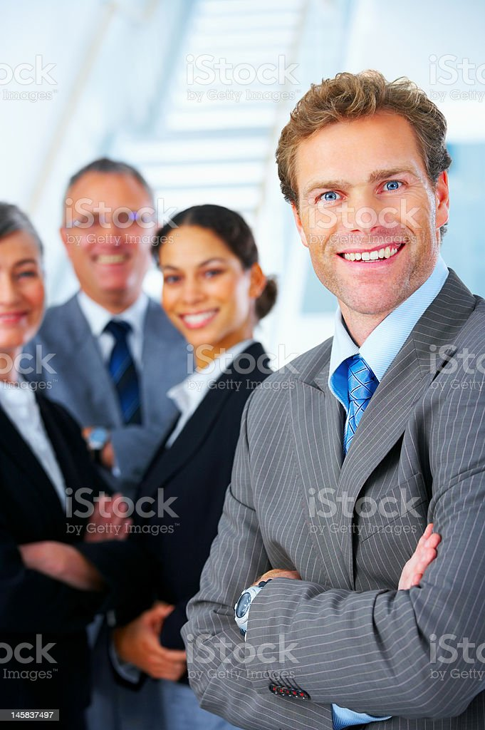 Business team and a leader royalty-free stock photo