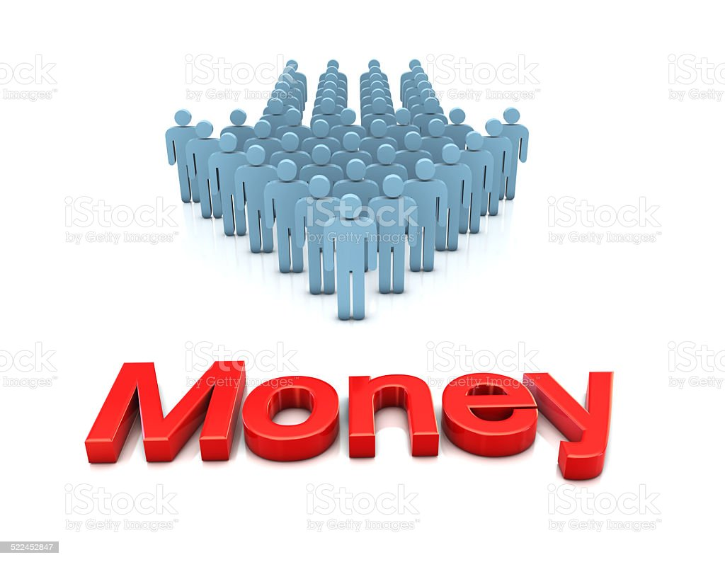 Business Team and Money stock photo