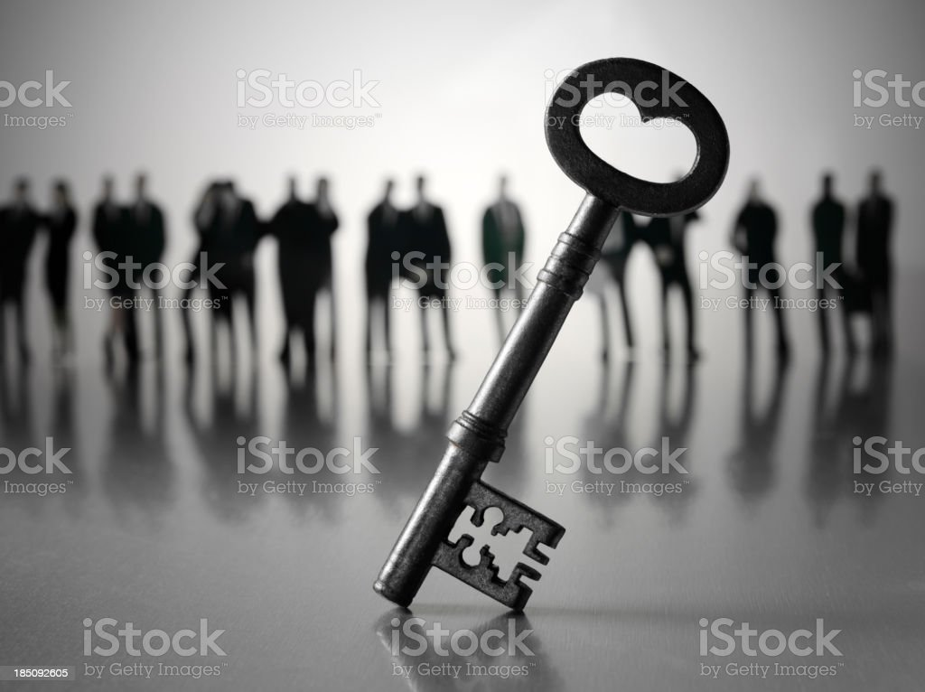 Business Team and the Key to Success stock photo