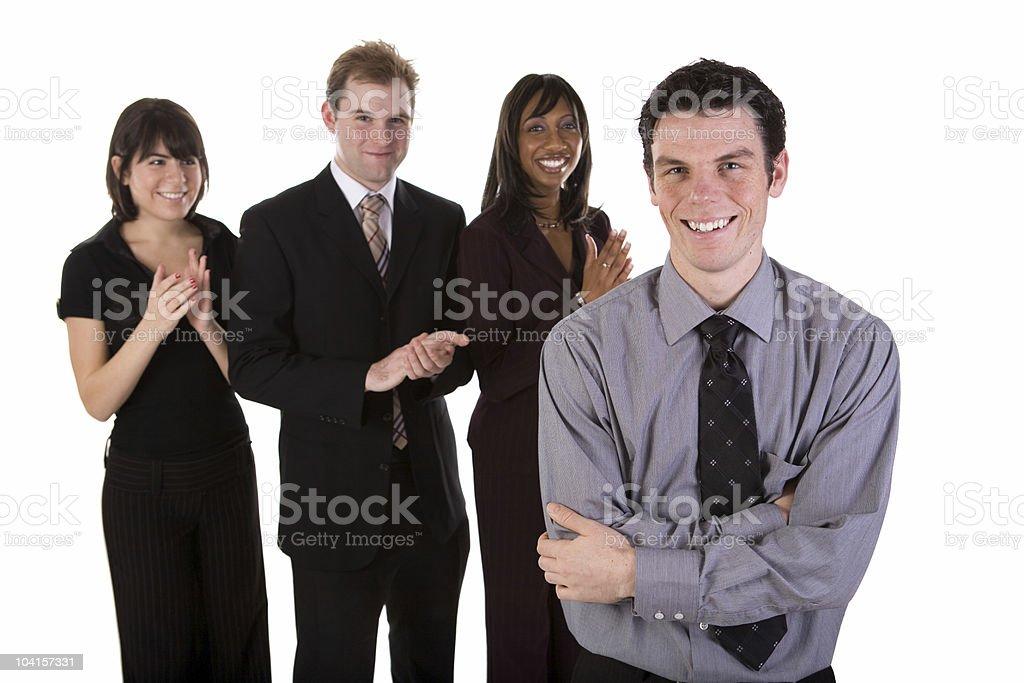 Business team applause - horizontal royalty-free stock photo
