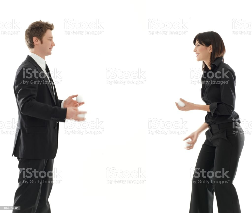 business team are the jugglers royalty-free stock photo