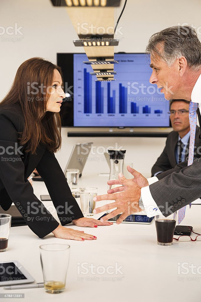 business team arguing royalty-free stock photo