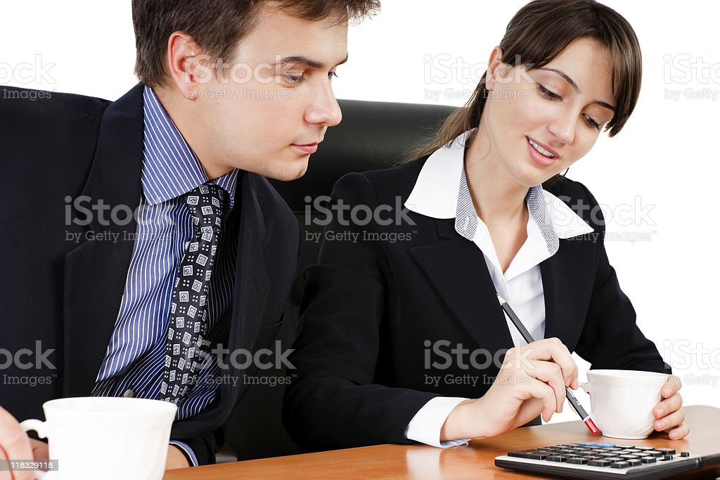 Business team at a coffee break royalty-free stock photo