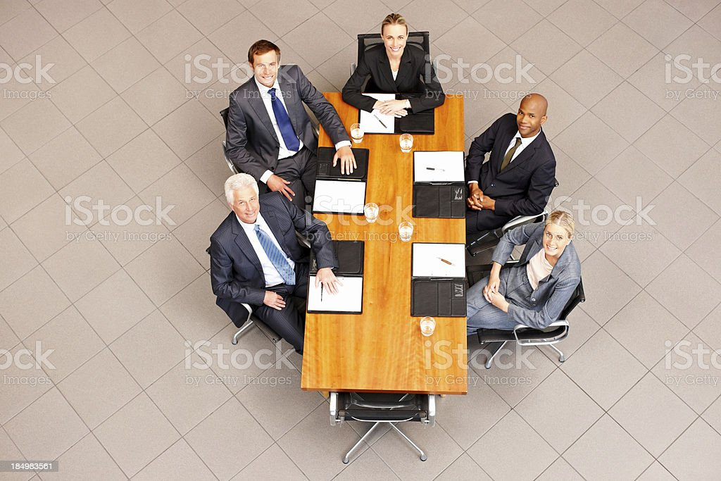 Business Team at a Conference Table royalty-free stock photo