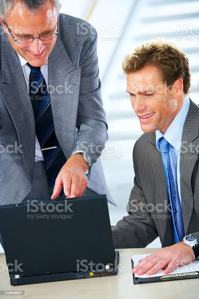 Business team at a meeting royalty-free stock photo