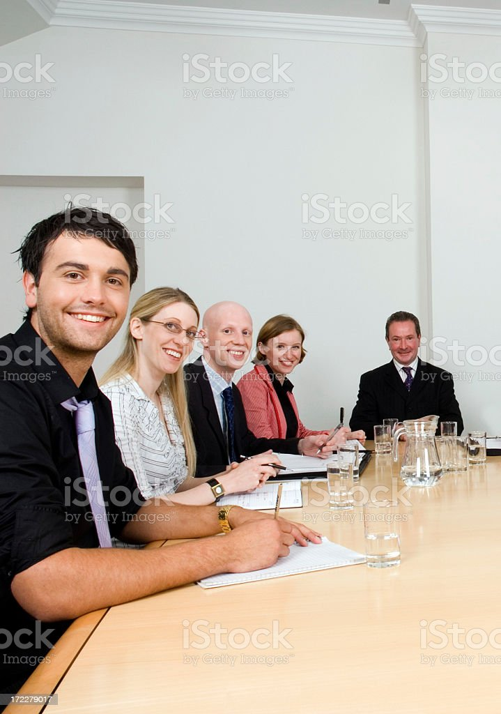 Business Team at Table royalty-free stock photo