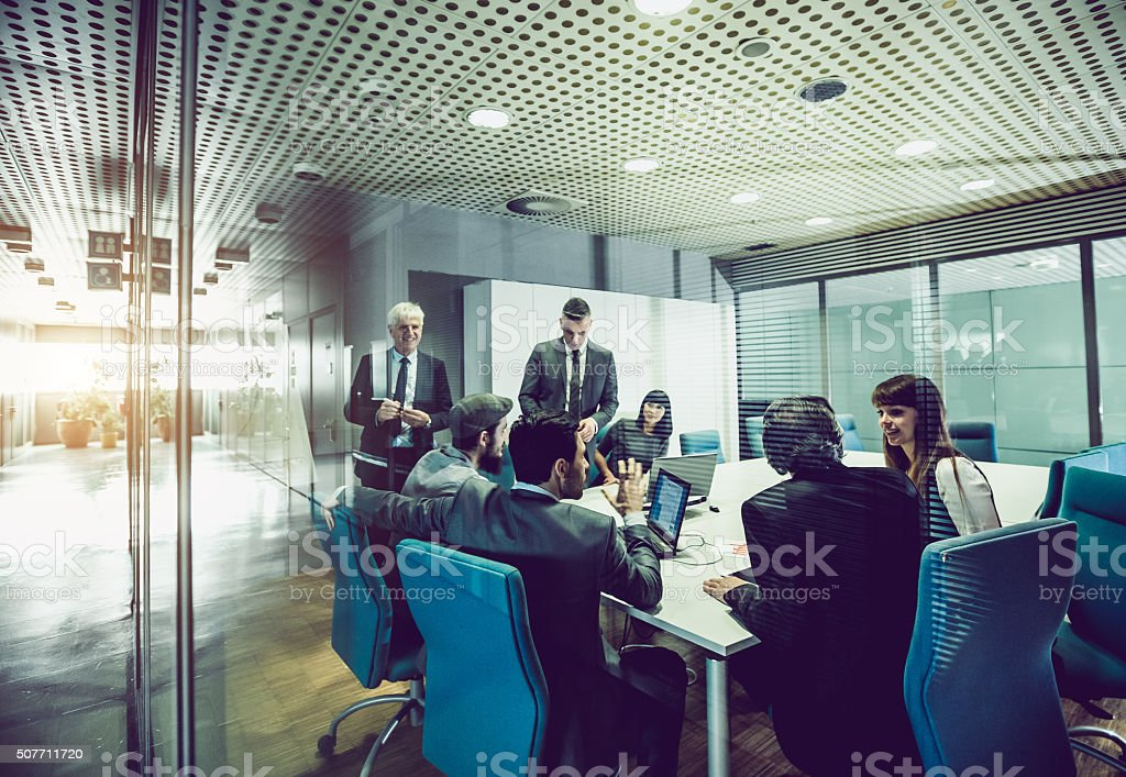 Business team at the office royalty-free stock photo