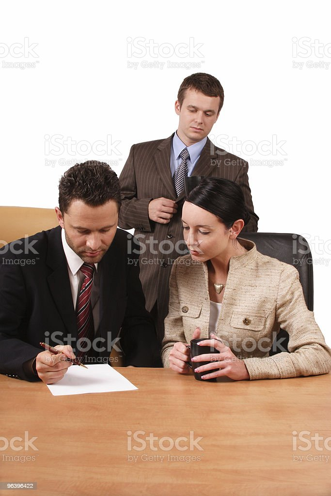 Business team at work 2 royalty-free stock photo