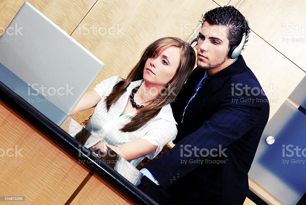 Business Team At Work royalty-free stock photo