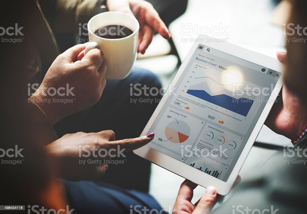 Business Team Brainstorming Data Target Financial Cocnept stock photo
