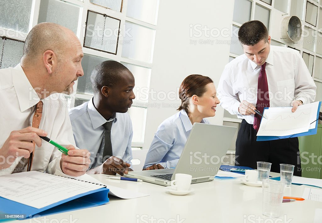 Business team brainstorming royalty-free stock photo