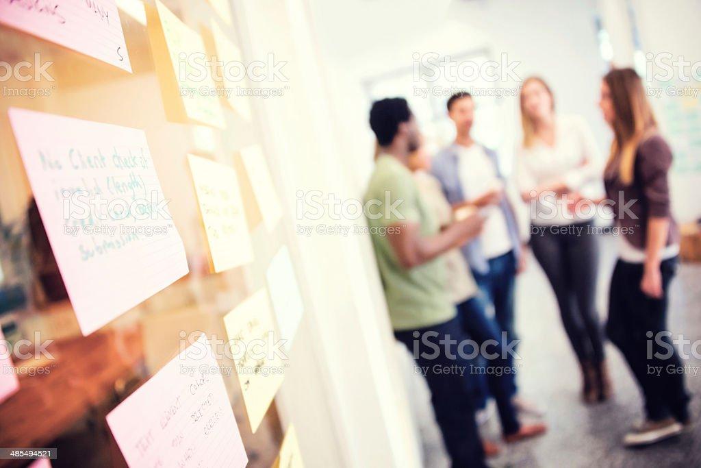 Business team brainstorming stock photo