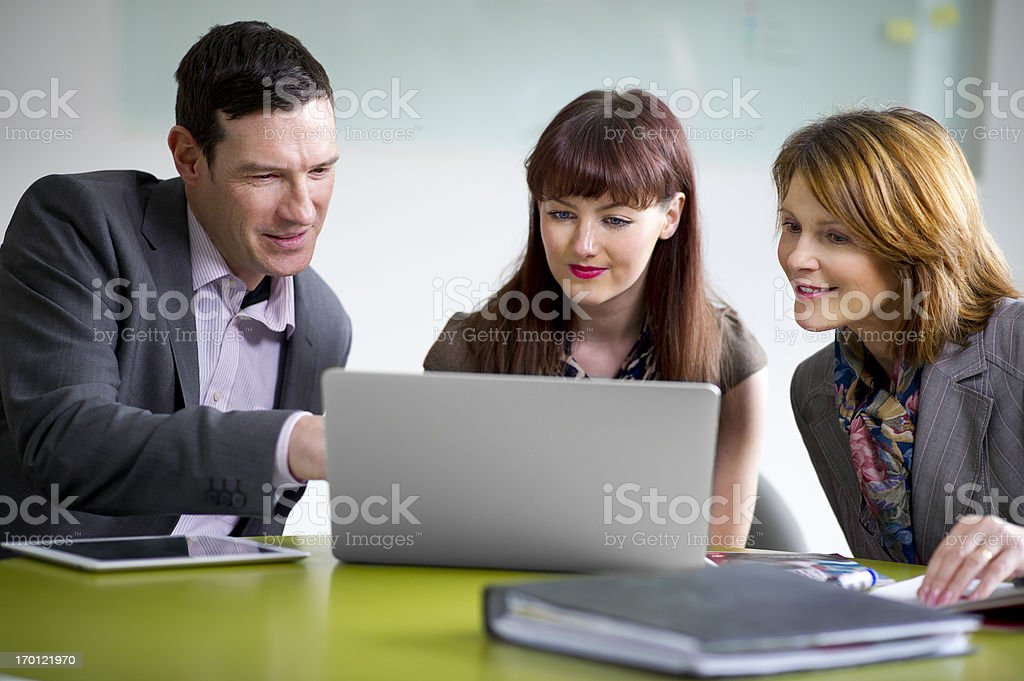 business team briefing royalty-free stock photo