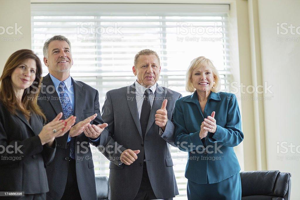 Business Team Celebrating Success royalty-free stock photo