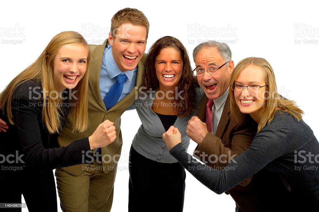 Business team celebrating victory royalty-free stock photo