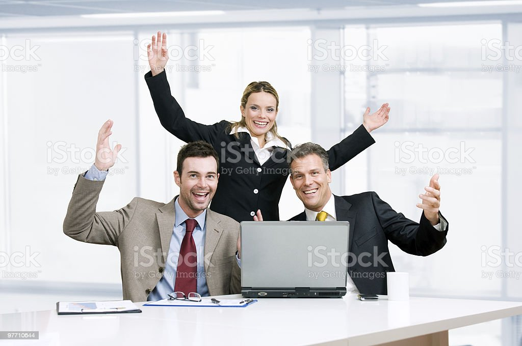 Business team celebration royalty-free stock photo